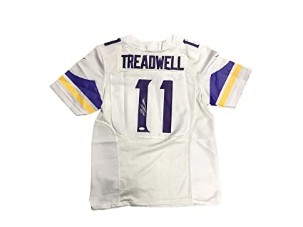 hot sales a9c74 e9c1e Signed Laquon Treadwell Jersey - Away White - JSA Certified ...