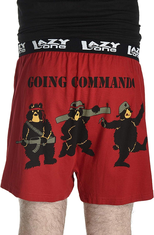 Animal Pun Joke Underwear for Guys Soft Comical Boxers for Men by LazyOne