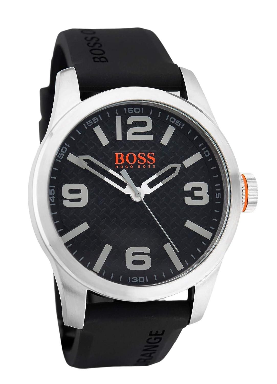 70e40b287e56 Hugo Boss Orange Homme Analogique Quartz Montres bracelet avec bracelet en  Silicone - 1513350  Hugo Boss Orange  Amazon.fr  Montres
