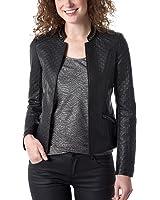 Promod Blouson femme en faux cuir Noir 36