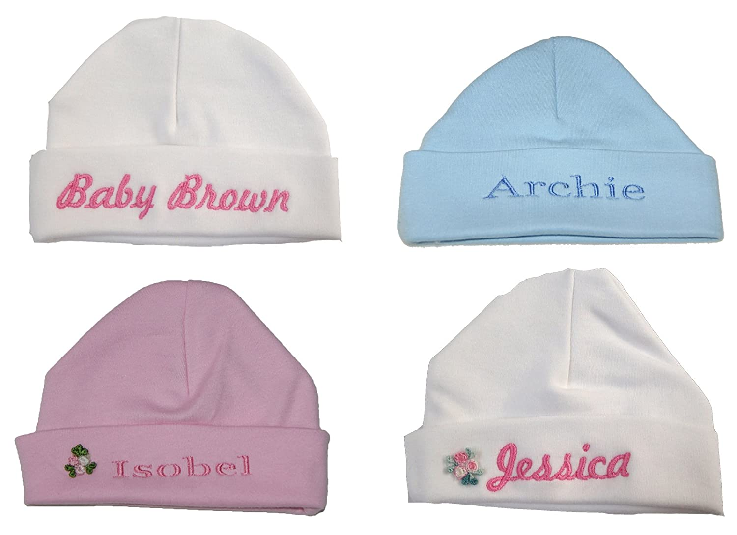 100% Super Soft Double Layered Cotton Personalised Baby Hat Now Available in 2 Sizes. (0-3 Months and 3-6 Months) Sew Sew Special New born baby hat
