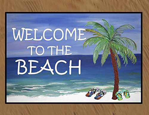 Welcome to the Beach Floor Mat 18 x 24