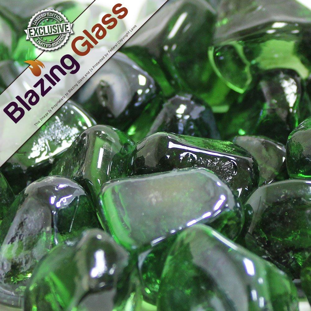 Limited Edition 10-Pound Dark Shamrock Zircon Fire Glass
