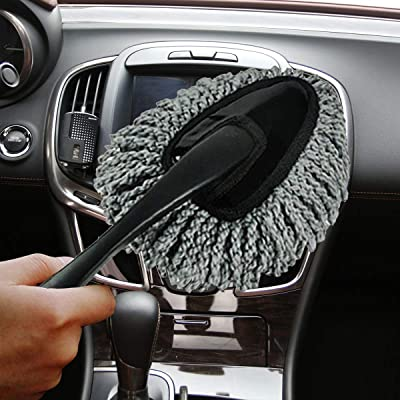 [Upgrade] Wemaker Multi-Functional Car Dash Duster Interior & Exterior Cleaning Dirt Dust Clean Brush Dusting Tool Mop Gray car Cleaning Products Brand New (Gray): Health & Personal Care
