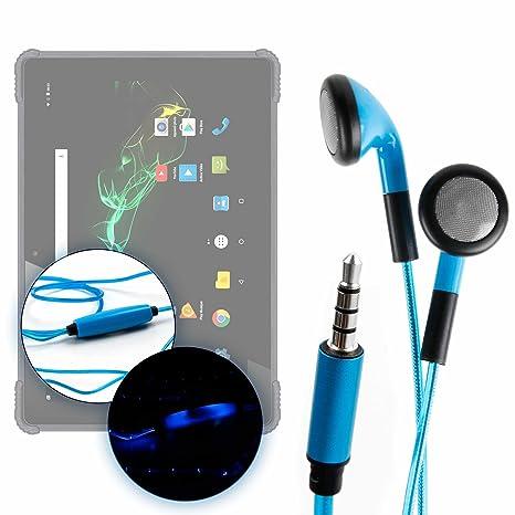 DURAGADGET Auriculares In-Ear con Luz LED Azul para Samsung