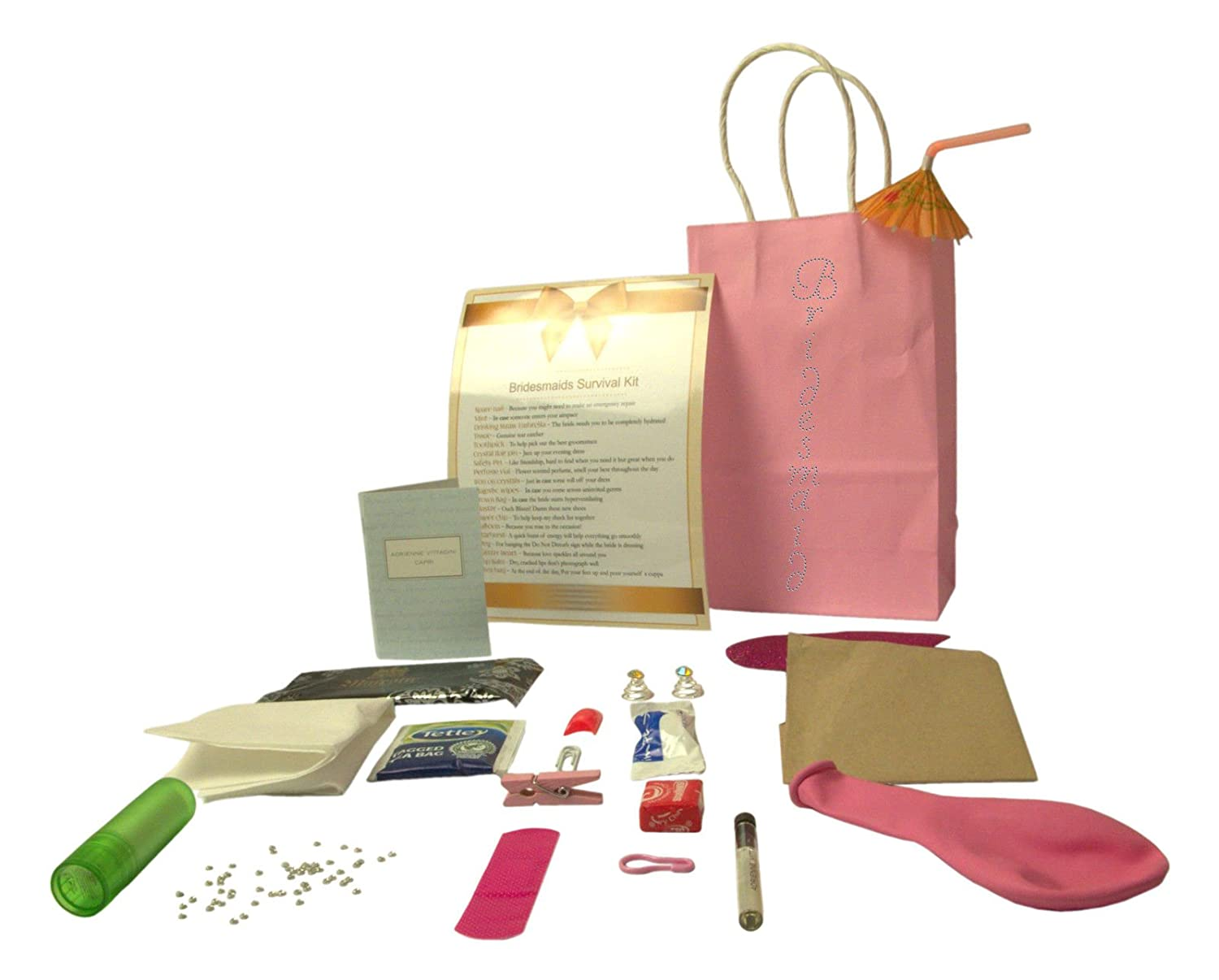 Bridesmaid Wedding Survival Kit Gift Perfect For Wedding Day