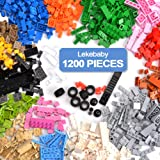 Lekebaby Classic 1200 Pieces Building Bricks Kit Basic Brick Set Classic Colors for Kids Creative Play, Compatible with…