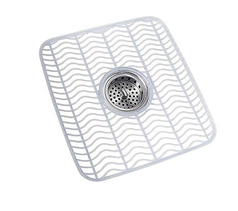 Rubbermaid Kitchen Sink Mats.Amazon Com Rubbermaid Sink Mat Medium Clear Fg129506clr