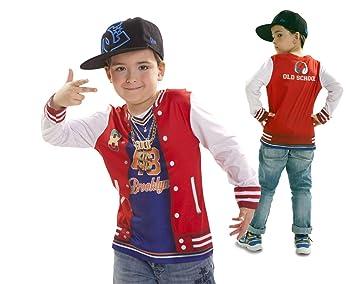Disfraz Camiseta de Rapero Original de Carnaval para niño de 6-8 años de  Microfibra a99fabb53cd