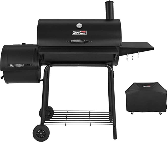 Royal Gourmet CC1830SC Charcoal Grill Offset Smoker - Best for Camping Trips