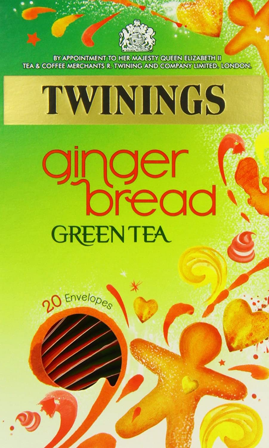 Twinings Gingerbread Green Tea 20 Envelopes (Pack of 4)