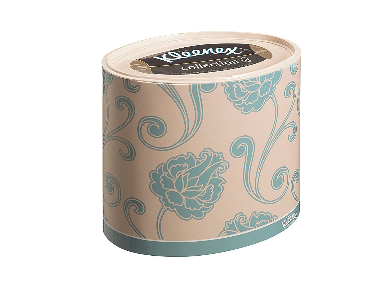 Oval White Kimberly Clark 8826/Kleenex Facial Tissues 3 Ply Tissue 64 Sheets
