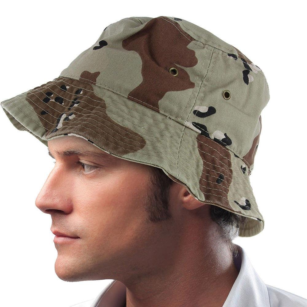 Easy-W Dt Camo Cotton Boonie Fishing Summer Hat Cap Sportsman