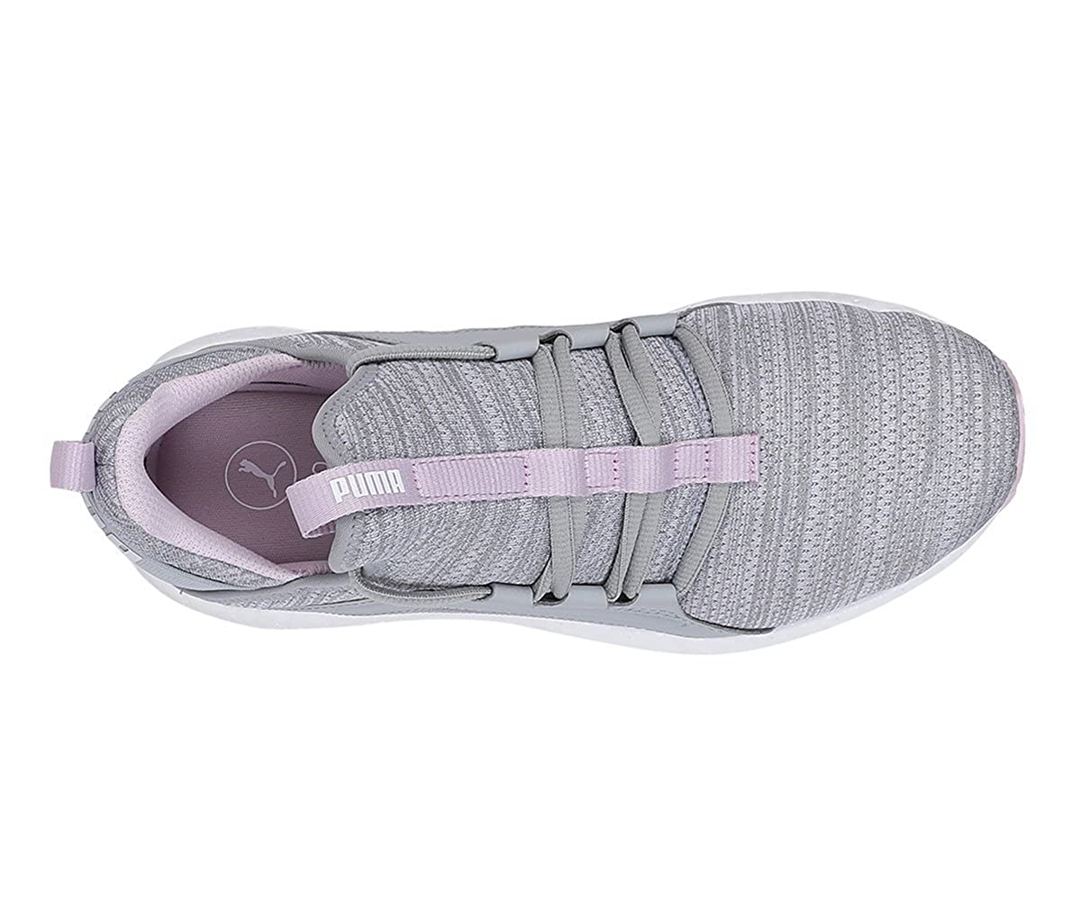 c0291c72552010 Puma Women s Mega NRGY Heather Knit WNS Quarry-Winsome Orchid White Running  Shoes-6 UK India (39 EU) (19109604)  Buy Online at Low Prices in India -  Amazon. ...