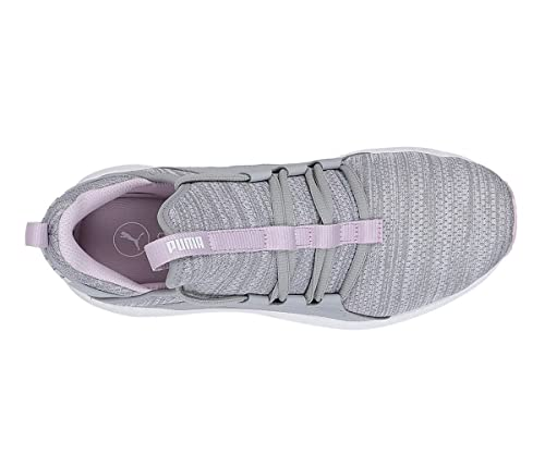 de07f2dd05db09 Puma Women s Mega NRGY Heather Knit WNS Quarry-Winsome Orchid White Running  Shoes-6 UK India (39 EU) (19109604)  Buy Online at Low Prices in India -  Amazon. ...