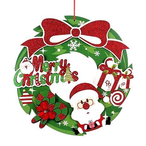 Guirnaldas De Navidad Imagenes.Tinksky Guirnaldas De Navidad Para La Decoracion De La Pared De La Puerta Del Arbol Del Dia De Fiesta Ornamentos De La Puerta Campana De Puerta Santa