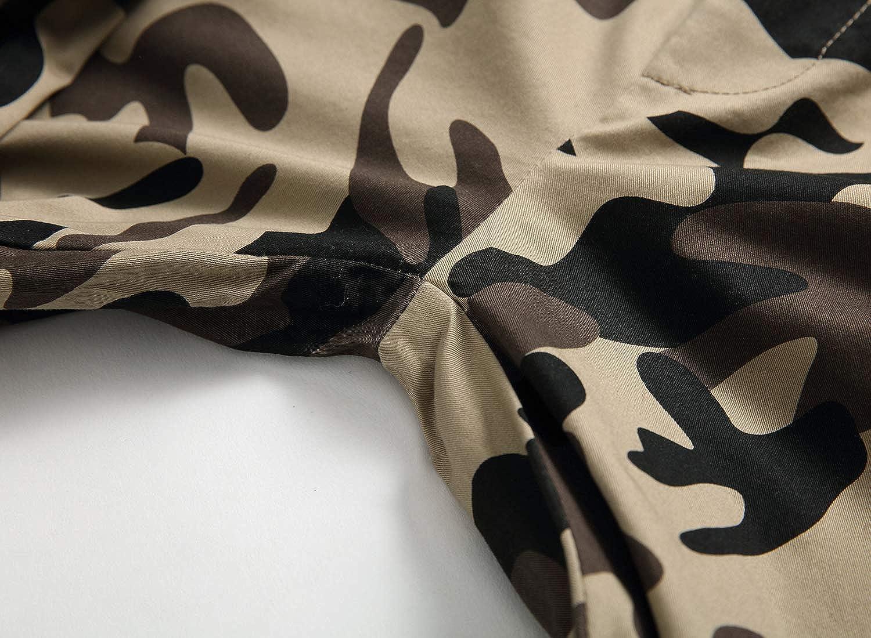 LAUSONS Boys Camouflage Trousers Children Winter Cargo Joggers Pants