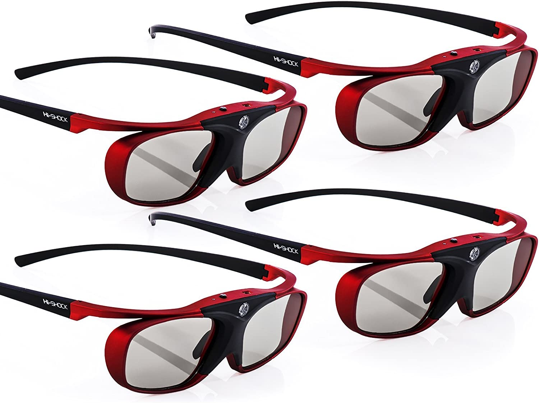 4x Hi Shock Bt Pro Scarlet Heaven Aktive 3d Brille Für Elektronik