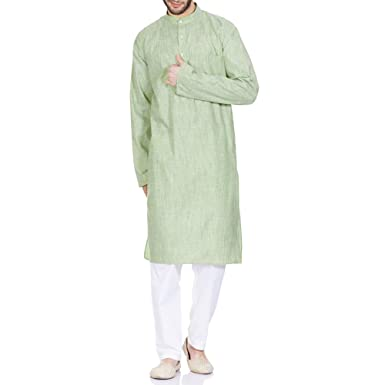 Traditional Indian Outfit Comfortable Kurta Pajama Set For Men Birthday Gifts 46 Inches