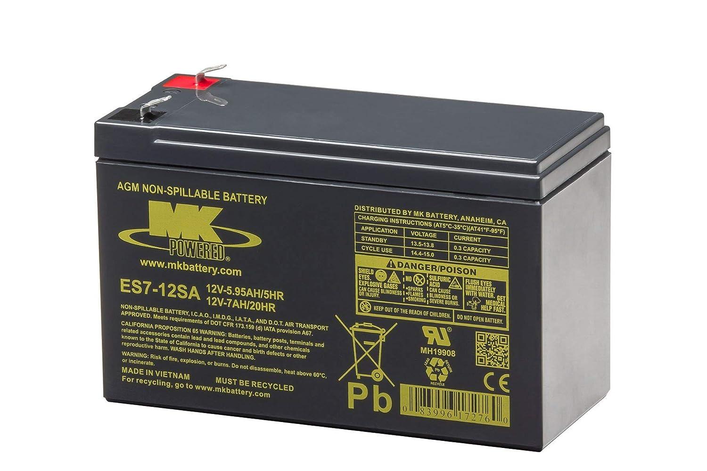 MK Battery ES7-12SA Maintenance-Free Rechargeable Sealed Lead-Acid Battery