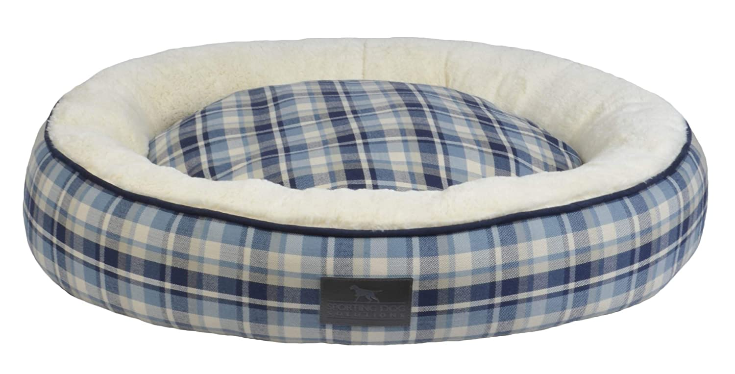 Large (40 x 30 x 6) Sporting Dog Solutions Brent Rectangle Bolster Pet Bed, bluee, Large (40 x 30 x 6)
