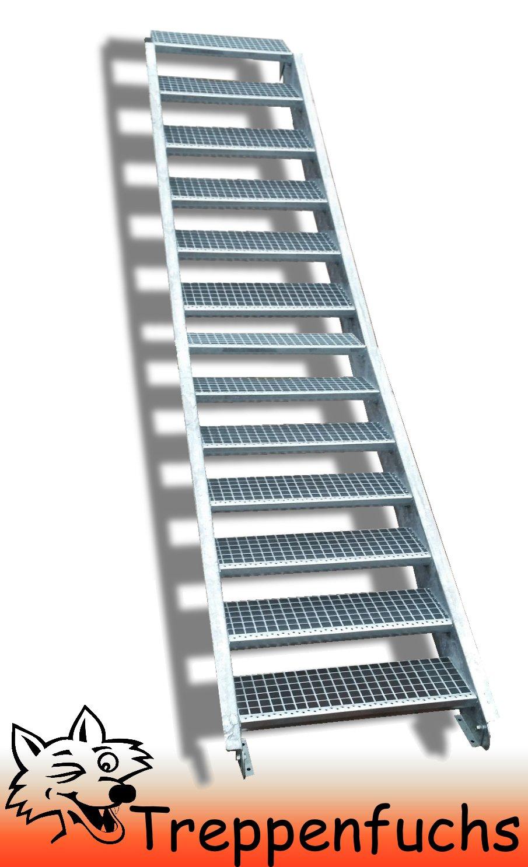 13 Stufen / 100cm breit / Höhe 195 - 260cm
