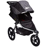 BOB Revolution Flex 2.0 Jogging Stroller; Black with Handlebar Console and Tire Pump