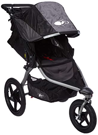 BOB Revolution Flex 2.0 Jogging Stroller Black with Handlebar Console and Tire Pump