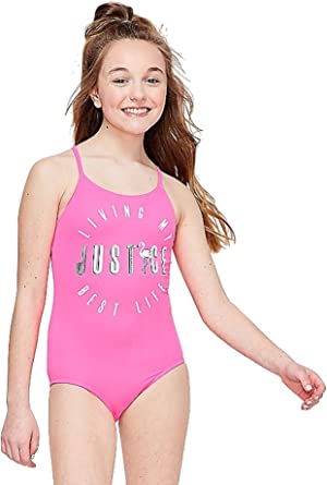 Girl/'s JUSTICE 2 Piece Pink Striped Bikini Set Size 7 Brand New