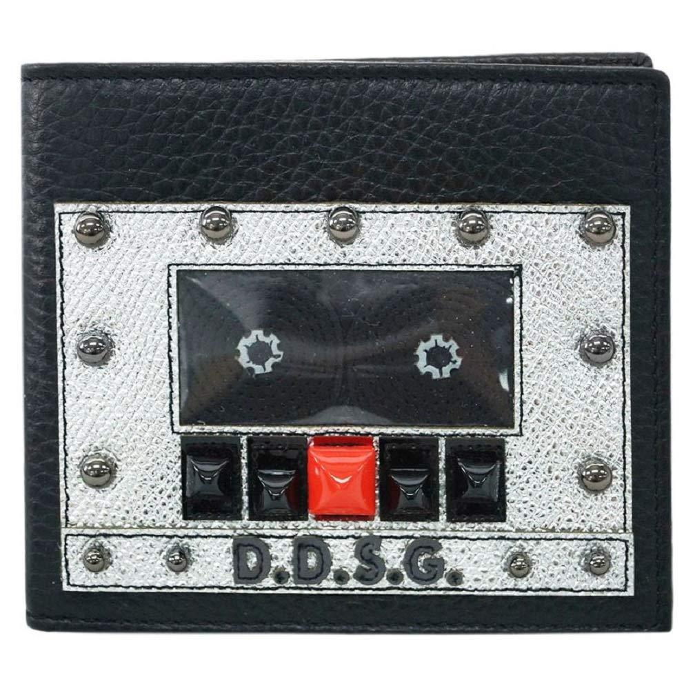 【アウトレット】ドルチェ&ガッバーナ 財布 BP1321 DOLCE&GABBANA メンズ 二つ折り 札入れ D.D.S.G. スタッズ 型押しカーフ ブラック [並行輸入品] B07PB7DF61