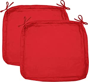 """Sigmat Outdoor Seat Cushion Cover Water Repellent Square Chair Cushion Cover-Only Cover Red 20""""x20""""x2""""(2 Covers)"""