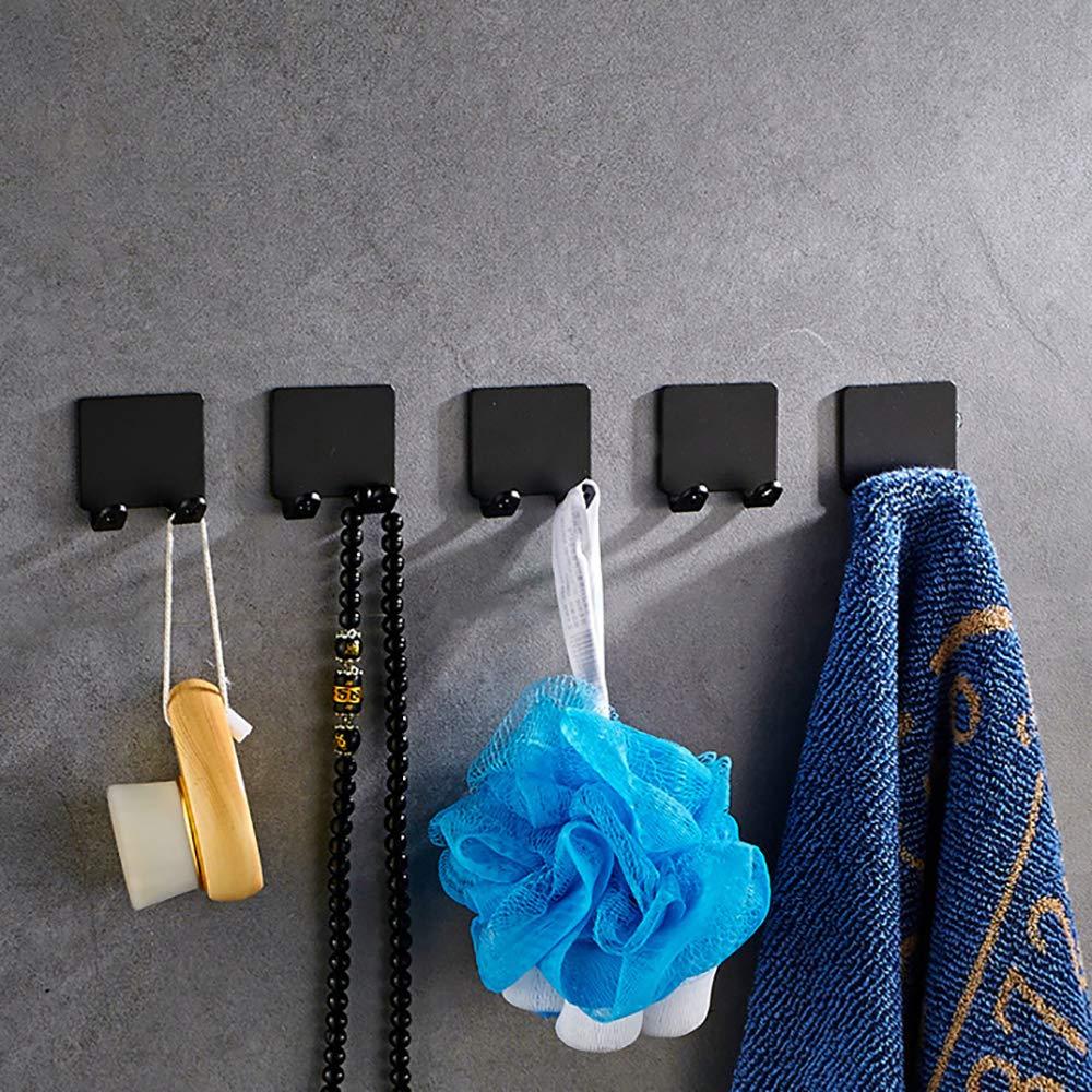 Doppel-Sockel-Rack-Wand-Organisator Praktischer selbstklebender Edelstahl-selbstklebender Rasiererhalter Schwarz