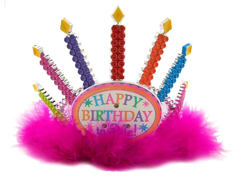 Kids Pink Happy Birthday to Me Light Up Tiara