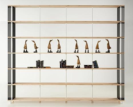 Libreria Componibile SKAFFAWOOD in Legno Massiccio Modulare Design ...