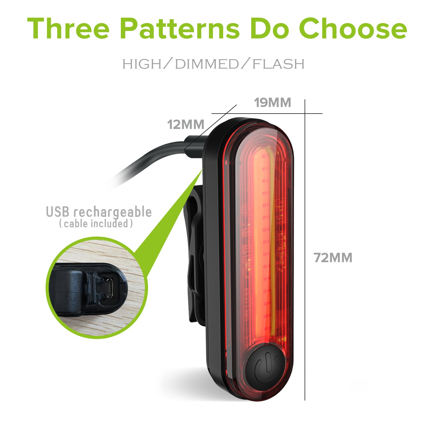 Degbit Bike Lights Usb Rechargeable Light Set Mountain Shaped Flash Lamp Electronic Circuit Board Production Suite Diy Cycle Led Bicycle Quick Release