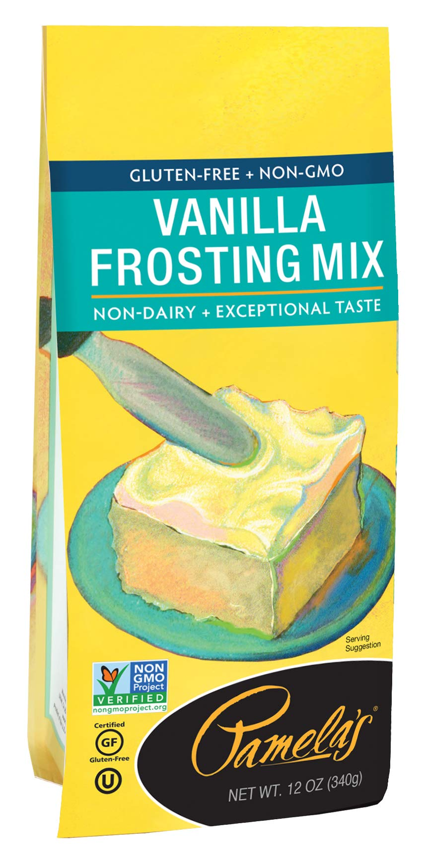 Pamela's Products Gluten Free Frosting Mix, Vanilla, 12-Ounce Bags (Pack of 6) by Pamela's Products