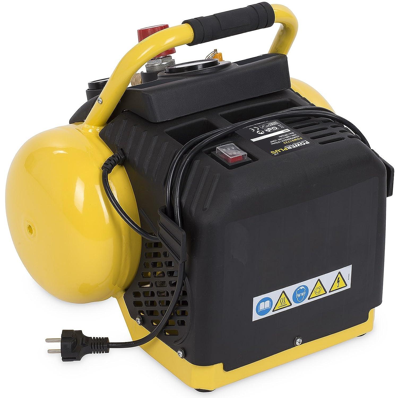Compressore senza benzina con pressione di 8 o 10 bar serbatoio di varie dimensioni 6-50 litri Giallo 1100.00 wattsW Varo 230.00 voltsV