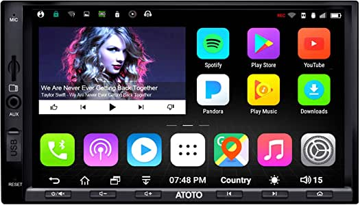 [New] ATOTO A6 Pro A6Y2721PRB 2DIN Android Car Navigation Stereo - Dual Bluetooth w/aptX - Fast Phone Charge/Ultra Preamplifier - in Dash Entertainment Multimedia Radio,WiFi,Support 256G SD &More