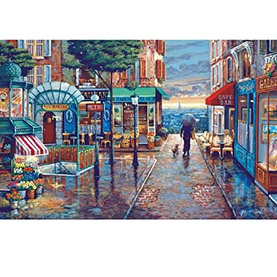 Blenko 1000pcs Landscape Painting Puzzle Jigsaw Puzzles 1000 Pieces Scenery Landscape Jigsaw Puzzles Adult Decompression Children Early Education Toy Entertainment DIY Toys Creative Gift Home Decor: Beauty