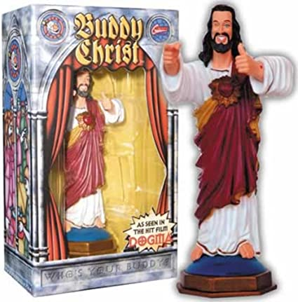Buddy Christ Dogma Dashboard Figure Figures Amazon Canada Buddy jesus christ statue figurine from kevin smith's dogma movie i smile every time i see it. buddy christ dogma dashboard figure