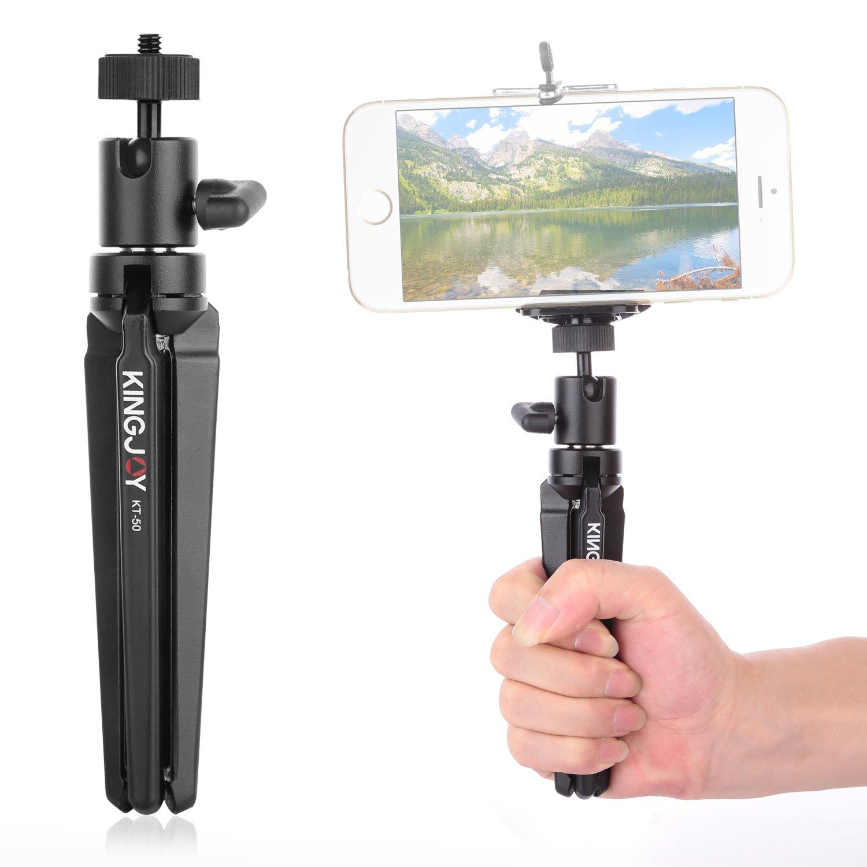 Mini Tabletop Tripod ,Kingjue Portable Tripod Stand with Swivel Ball Head for DSLR Digital Camera Spotting Scope Camcorder