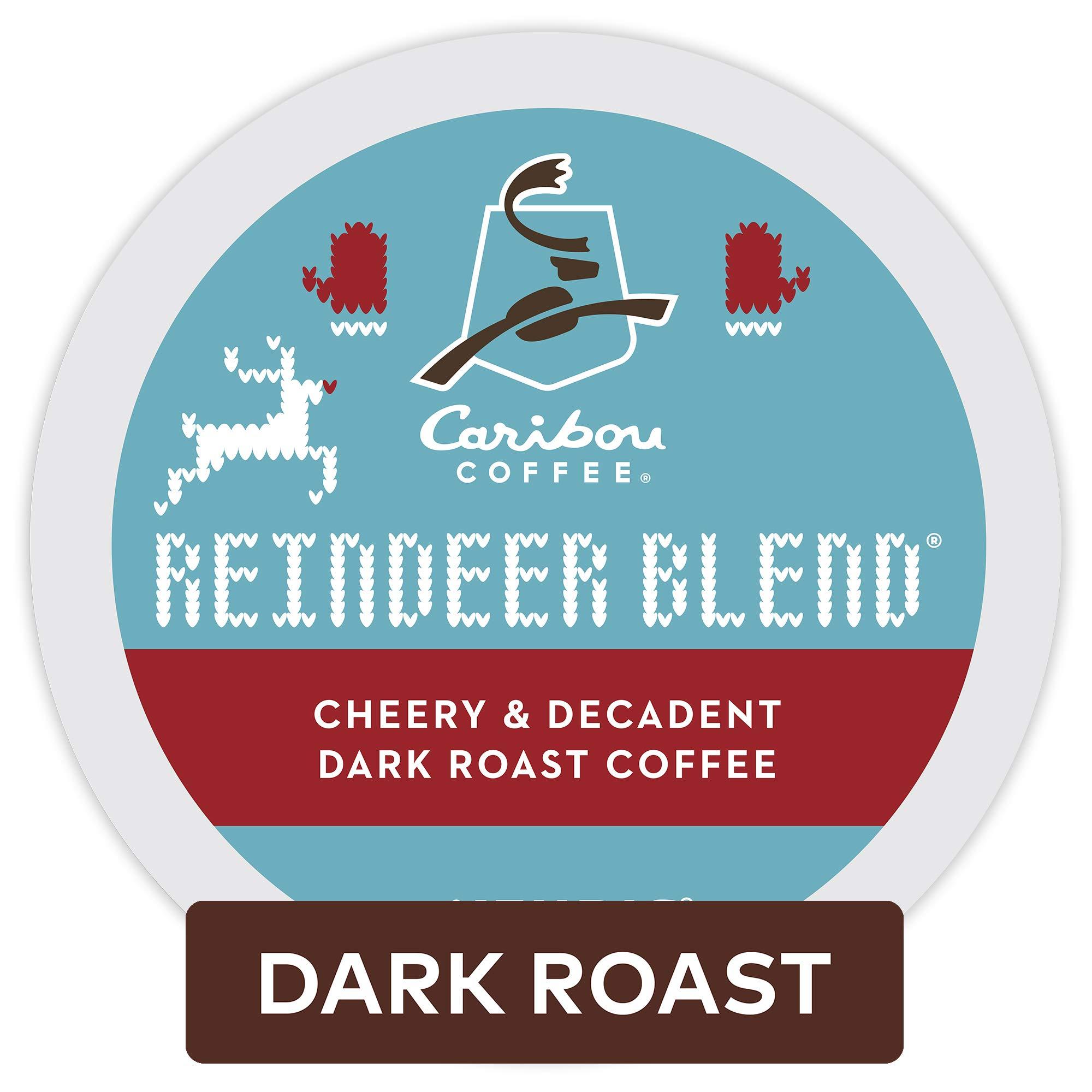 Caribou Coffee Reindeer Blend, Single Serve Coffee K Cup Pod, Dark Roast, 60Count, Reindeer Blend, 60Count by Caribou Coffee