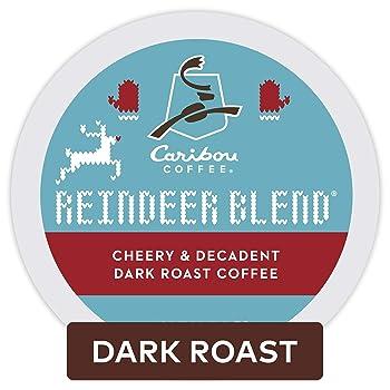 Caribou Coffee Reindeer Dark Roast K Cups