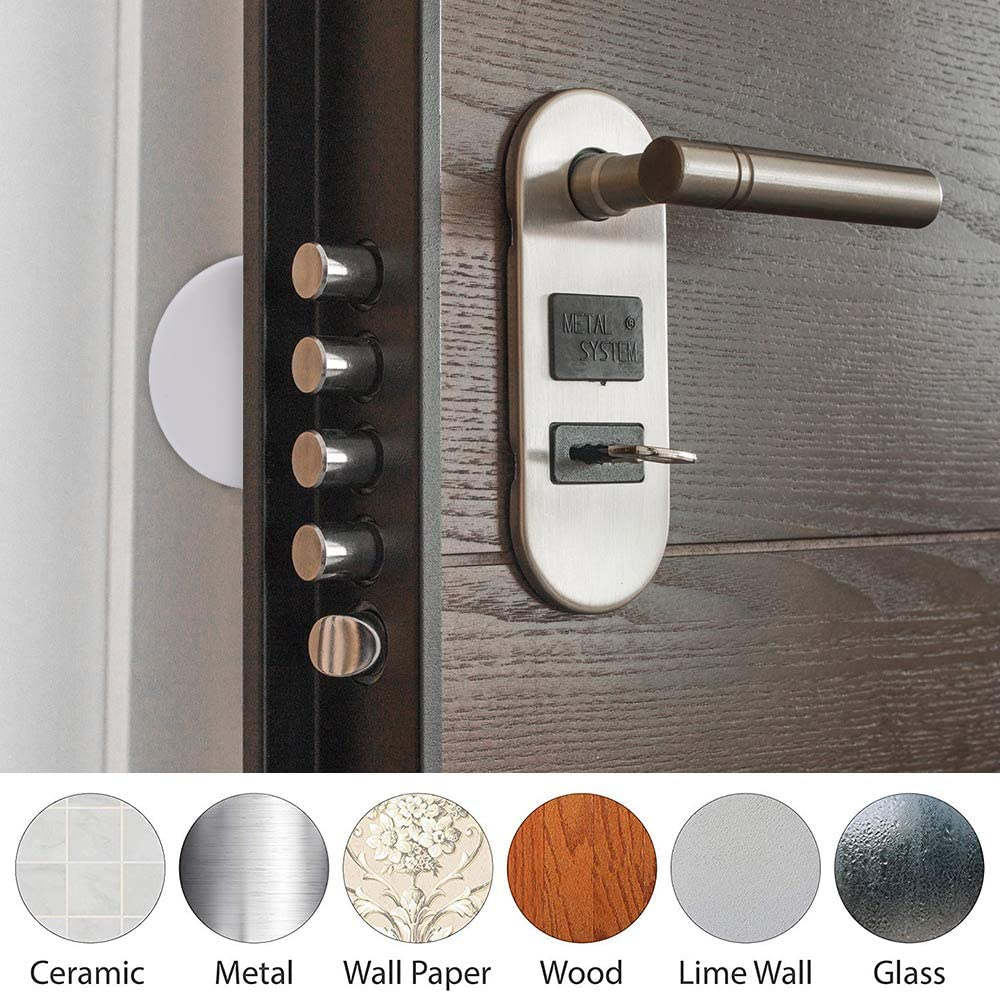Door Knob Guard Door Stopper Wall,Large 3.15 Inch Door Bumper 3PACK Wall Protectors with Self Adhesive Sticker for Protecting Wall Silicone Wall Protector