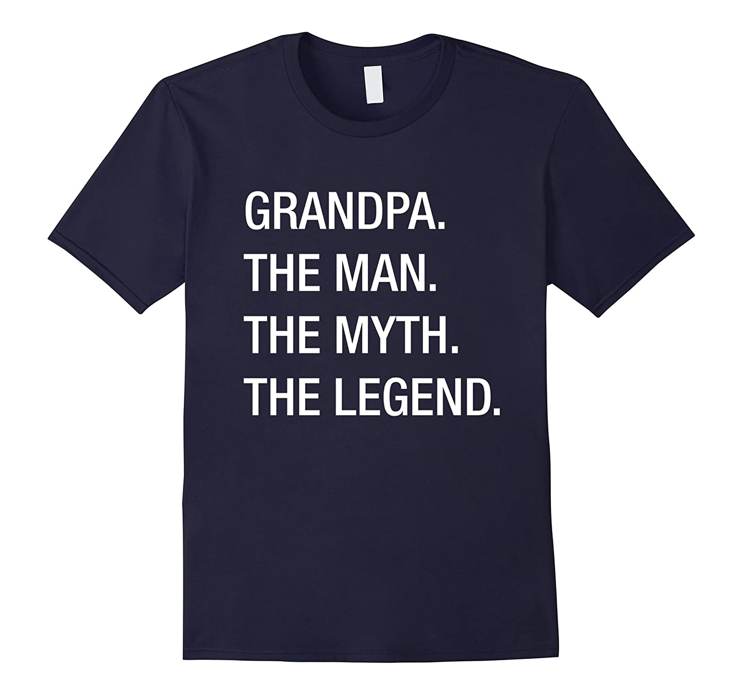 Mens Grandpa Legend T Shirt Black-Teeae