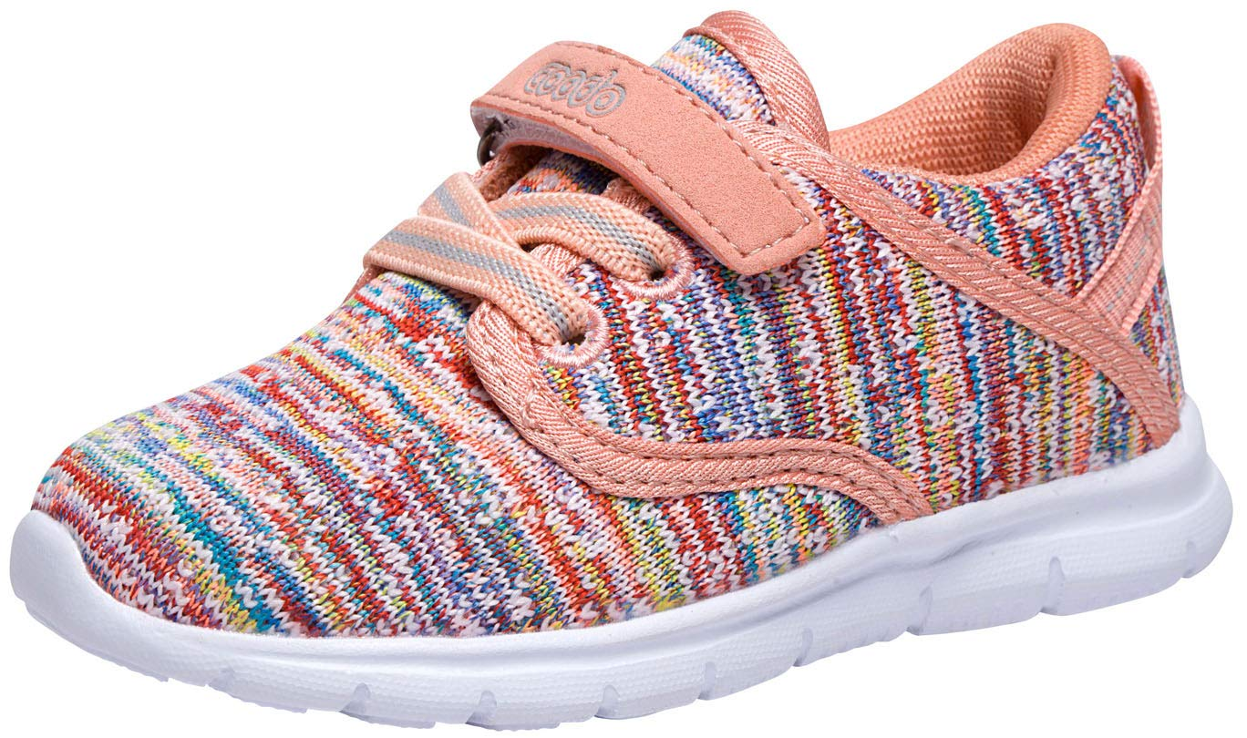 COODO Toddler Kid's Sneakers Boys Girls Cute Casual Running Shoes (8 Toddler,Multicoloured)