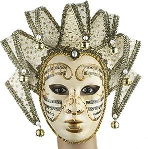 YU FENG Music Jester Venetian Mask Masquerade Mardi Gras Wall Decorative Art Collection