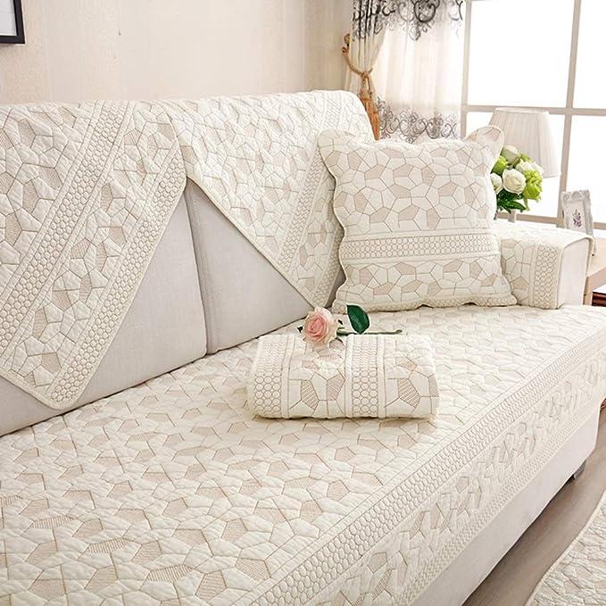 HYWL Fundas de sofá 100% algodón Cuatro Estaciones Sofá ...