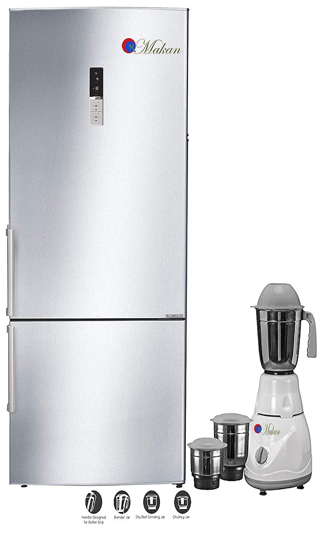 マカン 低エネルギーの使用を用いる銀製505 L両開きドアインバーター圧縮機冷却装置フリーザー冷蔵庫   B07MVXW3V6