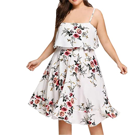 5b9ed05ecb Hotkey® Clearance Women Dresses On Sale Floral Printed Cocktail Party  Evening Plus Size Dress Beach